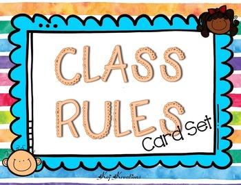 Class Rules Card Set