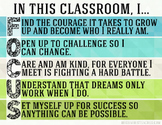 Class Rules Class Focus Poster - Blue and Green Version