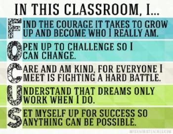 Class Rules Class Focus Poster