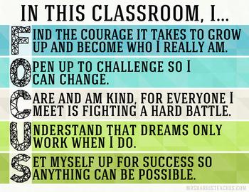 Class Rules Class Focus Poster - Color Bundle