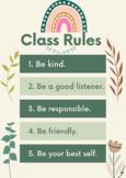 Class Rules - Classroom Rules - Kindergarten Class Rules -