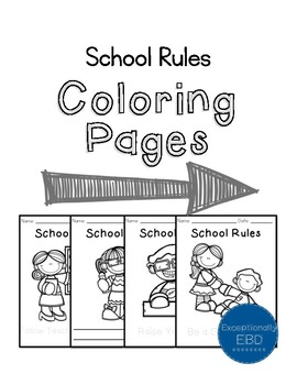 Class Rules Coloring Pages By Exceptionally Ebd Tpt