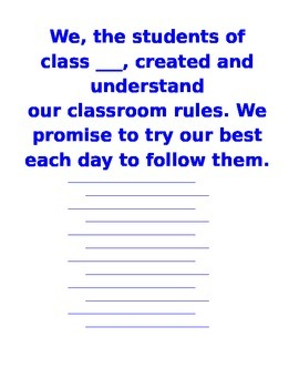 Class Rules Contract