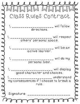 Class Rules Contract {Freebie}!