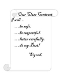 Class Rules Contract Poster or Handout