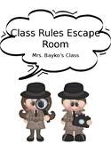 Class Rules Escape Room Challenge
