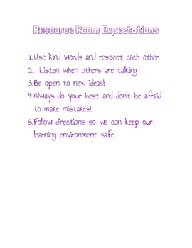 Class Rules/Expectations