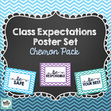 Class Rules/Expectations Poster Set - Chevron Pack