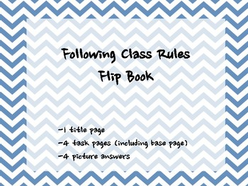 Class Rules Flip Book