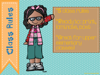 Class Rules For Upper Elementary