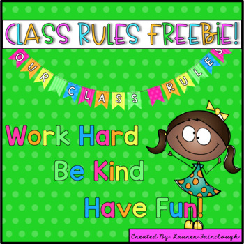 Class Rules Freebie