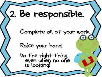 Class Rules-Frog Theme