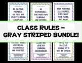 Class Rules - Gray Striped Set w/ 7 Different Color Options!