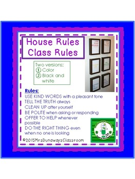 Class Rules / House Rules