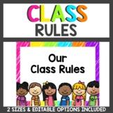 Class Rules In Neon Scribble