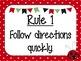 Class Rules: Ladybug Themed EDITABLE