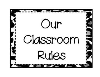 Class Rules Leopard Print Background