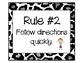Class Rules Leopard Print Background