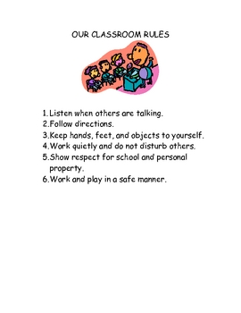 Class Rules Letter