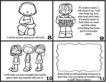 Class Rules Mini Book