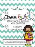Class Rules Mini Posters {with a Chevron Flair}