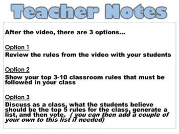 Class Rules Minions Video Activity FREE