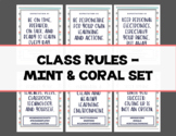 Class Rules - Mint, Gray, & Coral Set