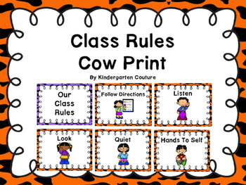 Class Rules Or Posters -Cow Print