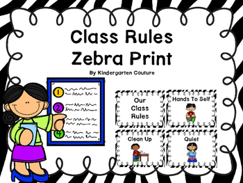 Class Rules Or Posters -Zebra Print
