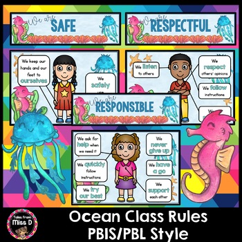 Class Rules - PBIS/PBL style - Ocean