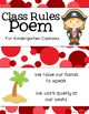 Class Rules Poem - Pirates