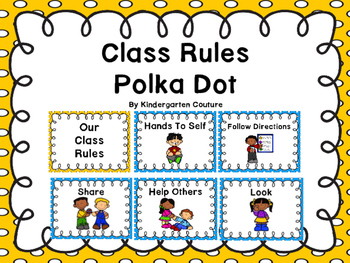 Class Rules Or Posters -Polka Dot