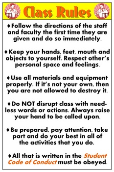 Poster: Class Rules