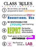 Class Rules Poster 2
