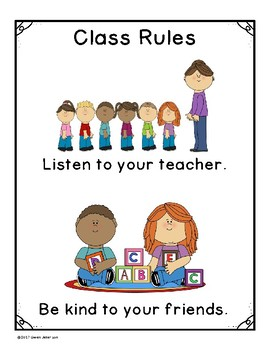 Class Rules Poster