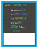 Class Rules Poster - Christian Version