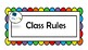 Class Rules Poster. Classroom organizer Space Theme
