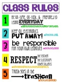Class Rules Poster- Hashtags