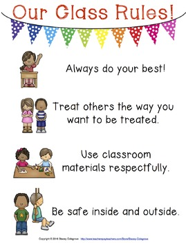 Class Rules Poster--Responsive Classroom Management