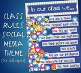 Class Rules Poster | Social Media Theme