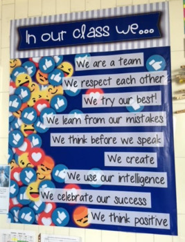 Class Rules Poster   Social Media Theme