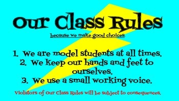 Class Rules Poster (Superhero theme)