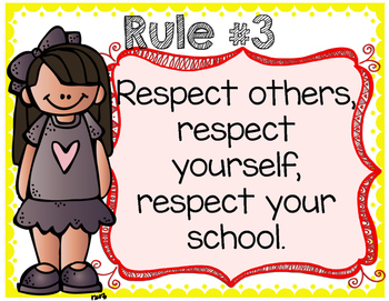 Editable Class Rules Posters