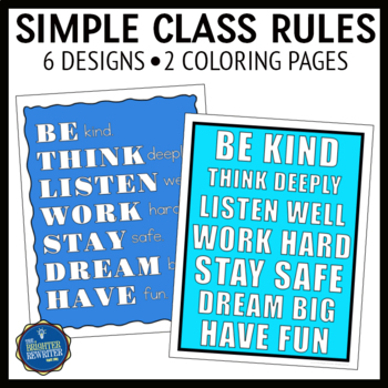 Classroom Rules on One Poster