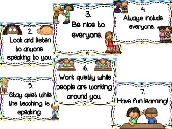 Class Rules Posters & Developing Class Rules Sheets