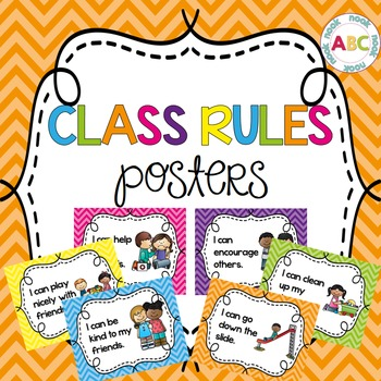 Class Rules Posters - Chevron