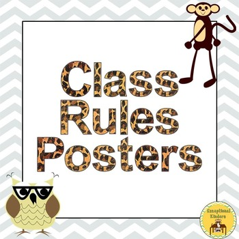 Class Rules Posters - Jungle Animal Theme