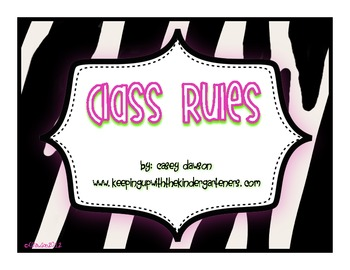 Class Rules Posters {Jungle Theme}