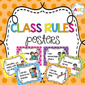 Class Rules Posters - Polka Dot