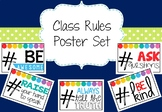 Class Rules Posters (Rainbow Pop)